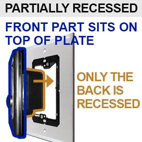 Recessed Ring Doorbells Mounted Over Old Intercom