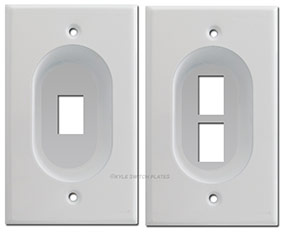 Recessed Switch Plates Keystone Ports for Modular Jacks