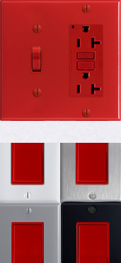 Red Electrical Components