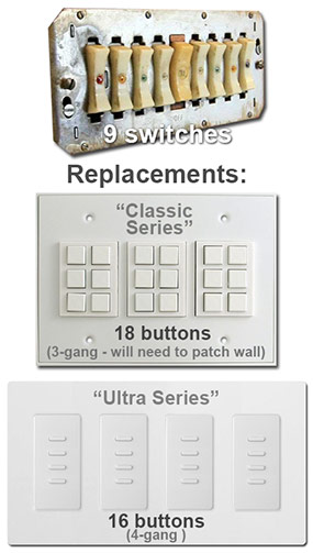 Replace a 9 Switch Remcon Control Panel