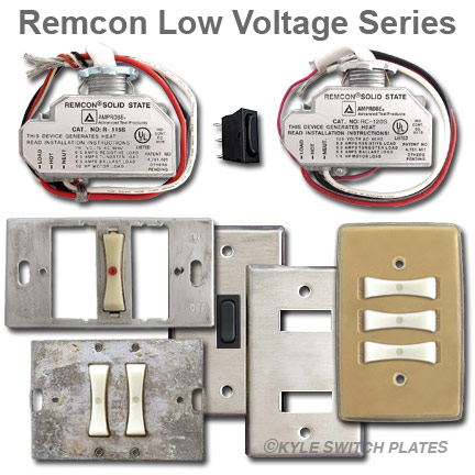 Remcon Low Voltage Light Switches & Switch Plate Covers