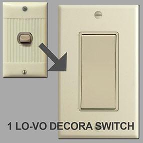 Modern Low Voltage Decora Rocker Switches