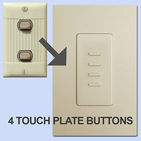 4 Button Touch Plate Ultra