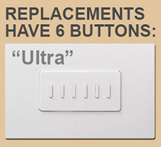 6 Button Ultra by Touch Plate