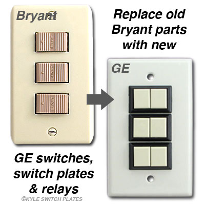 Bryant Low Voltage Switches Relays Wall Plates