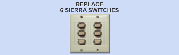 Replace 6 Sierra Switches in Single Plate