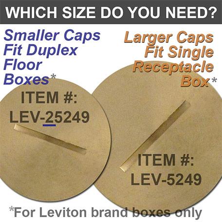 Replacement Floor Box Cap Sizes
