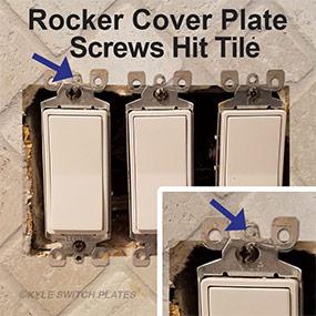 Rocker Devices Against Tile Backsplash