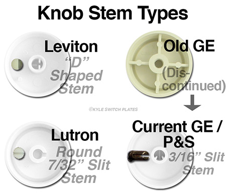 Types of Dimmer Knobs