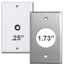 Wall Plates - Round Opening Sizes