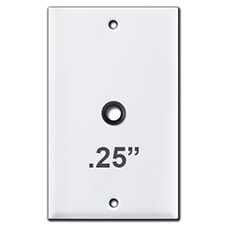 Switch Plate with Quarter Inch Round Opening