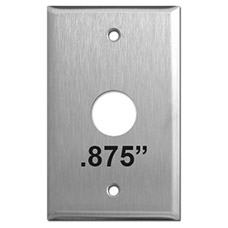 Round Opening Switch Plates 7/8 Inch Hole