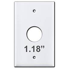 Round Opening Cover Plates 1.125 Inch Hole