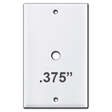 Switch Plate with .375 Inch Round Opening