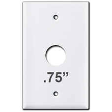 Round Hole Switch Plates 3/4 Inch