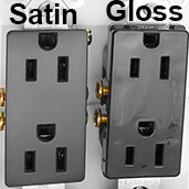 Satin vs Gloss Electrical Outlets