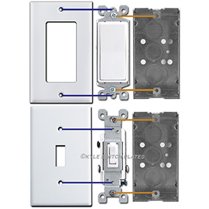 Switch Plate Screw Spacing