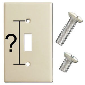 Switch Plate Screw Length Size Comparison
