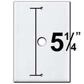 Large Doorbell Covers with Specialty Screw Spread
