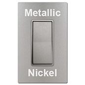 Metallic Nickel Switches & Screwless Plates