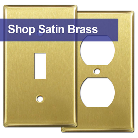 Brass Finish Cover Plates