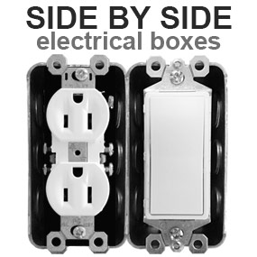 Side by Side Electrical Box Cover Solutions