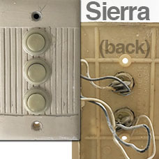 Sierra Push Door Bell Button Switches
