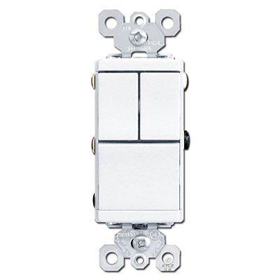 Stacked Rocker Light Switches for Sale