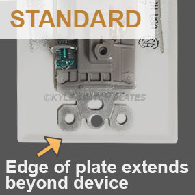 Standard Covers Extend Beyond Device Edge