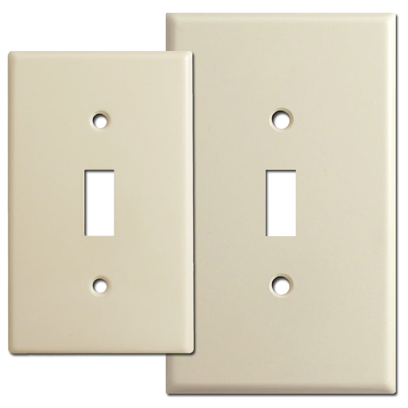 Compare regular vs. jumbo switch plate sizes