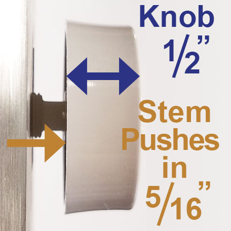 Stem Pushes inot Back of Dimmer Knob How Far