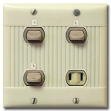 Old School Light Switches & Plugs