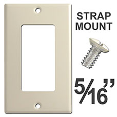 Shorter Strap Mount Wall Plate Screws