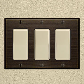 Metal Switch Plates for Uneven Walls