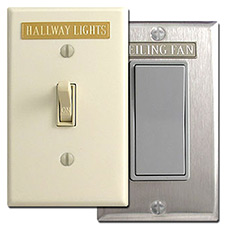 Custom Labels for Light Switches