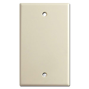 Blank switch plate cover description