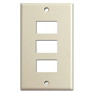 Ivory 3 switch low voltage light plate cover description