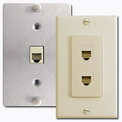 Telephone jack wall plate covers