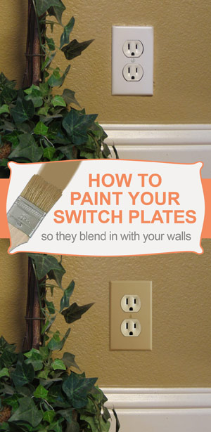 How To Paint Light Switch Plates