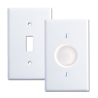 Toggle switch plate used with rotary dimmer switch