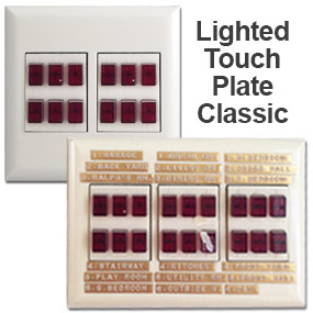 Touch Plate Classic Red Lighted Buttons