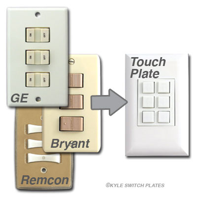 Cannot Use Touch-Plate Switches in GE or Bryant Low Volt Systems