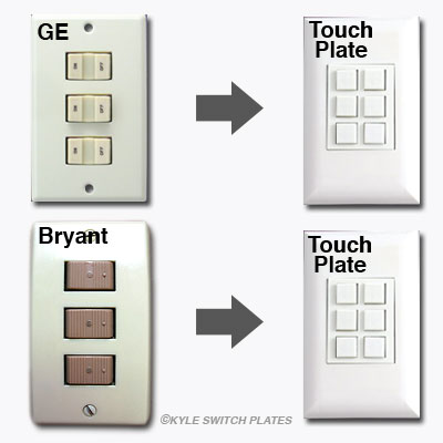 Touch Plate Replaces GE and Bryant Switches in Low Voltage Lighting