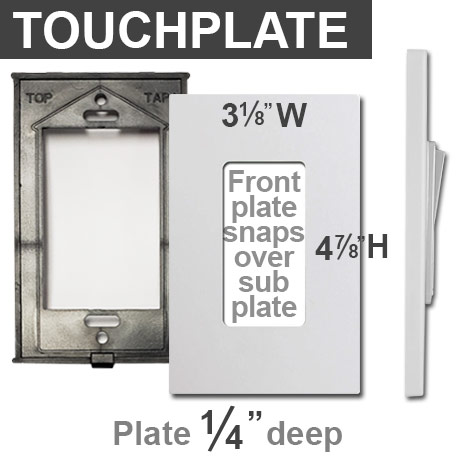 Touch Plate Screwless Rocker Plates