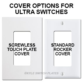 Ultra Screwless Covers or Rocker Switch Plates