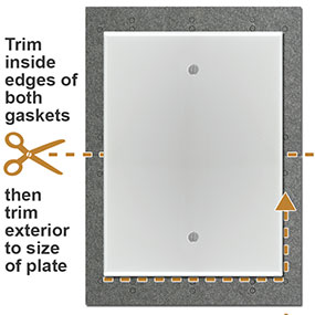 Gaskets for Outdoor Switch Plates