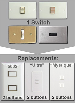 Info Updating Low Voltage Switch With Touchplate on Remcon Low Voltage Switches