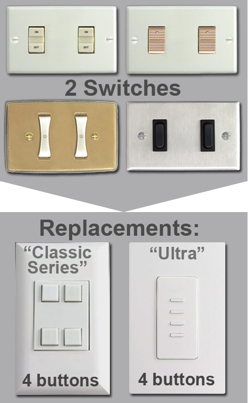 Replacing 2 Broken Switches with Touchplate