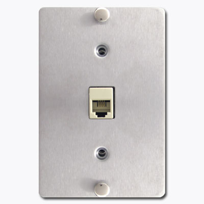 Wall mount phone jack switch plates