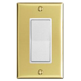 Polished Brass & White